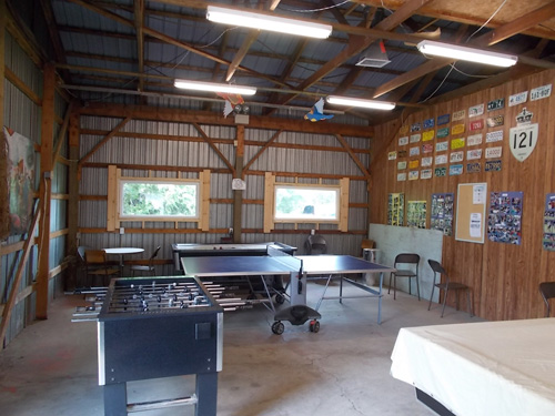 Games Room at Homestead Trailer Park.